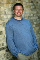 Portrait of Karl Boettcher in downtown Cedarburg brick alley